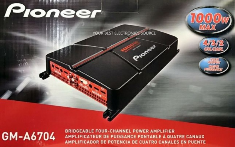 1000W 4 Canale  PIONEER  GM-A6704 усилитель